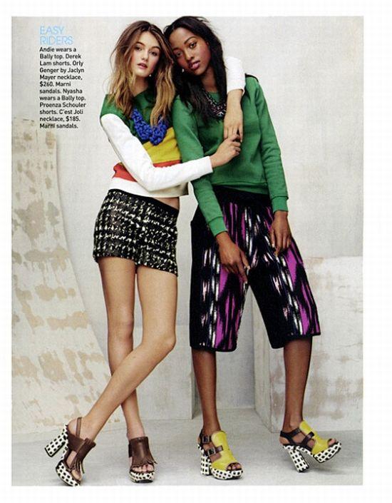 0047163712341f The African Model  Nyasha Matonhodze in Teen Vogue June July 2011 ...
